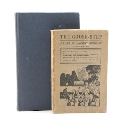 "Nonfiction Books Featuring ""The Goose-Step"" by Upton Sinclair, 1923"