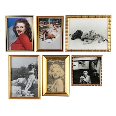 Marilyn Monroe Movie and Modeling Framed Photo Prints, Late 20th-Century