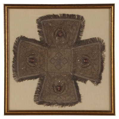 Eastern Orthodox Church Veil for Chalice or Diskos, Late 18th Century