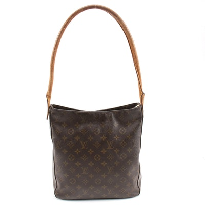 Louis Vuitton Looping GM Bag in Monogram Canvas and Leather