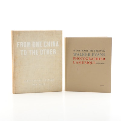 "Henri Cartier-Bresson Photography Books Including ""From One China to the Other"""