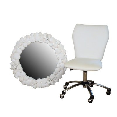Pottery Barn Teen Wall Mirror and Desk Chair