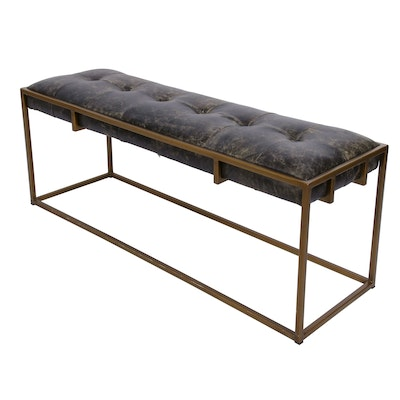 "Four Hands ""Oxford"" Blind-Tufted Bench, Contemporary"
