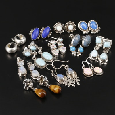 Collection of Sterling Silver Earrings Featuring Ann King