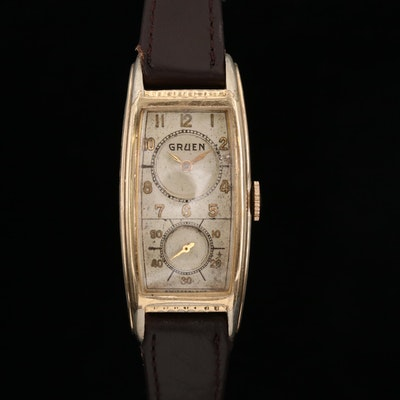 Gruen 10K Gold Filled Doctors Watch, Vintage