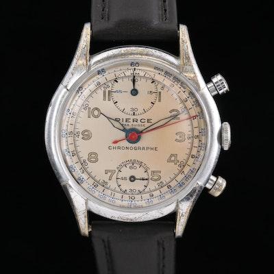 Vintage Pierce Stem Wind Chronograph Wristwatch, Circa 1945