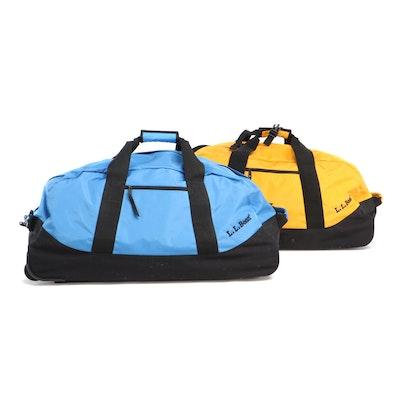 L.L. Bean Nylon Rolling Duffle Bags