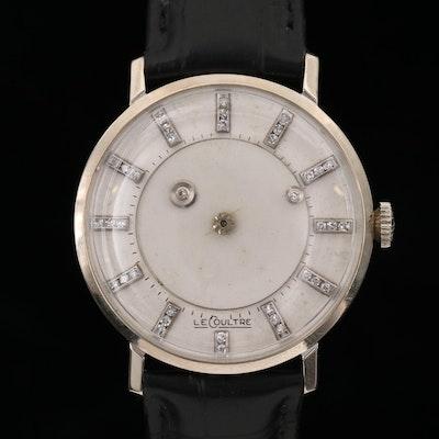 Vacheron Constantin  LeCoutre Diamond Mystery Dial 14K Gold Stem Wind Watch