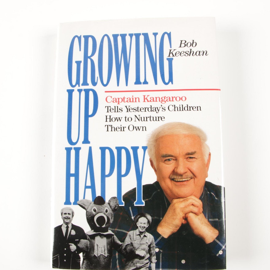 """Signed First Edition """"Growing Up Happy"""" by Bob Keeshan, 1989"""