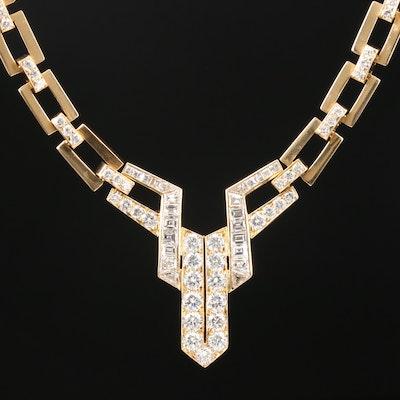 18K Yellow Gold 4.15 CTW Diamond Necklace