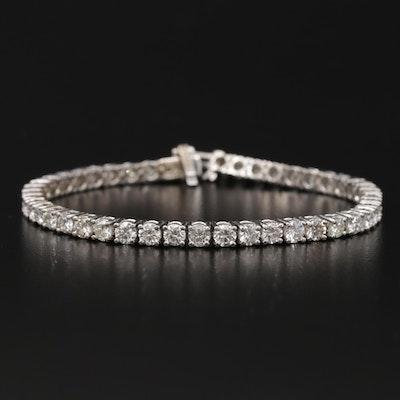 14K White Gold 8.13 CTW Diamond Line Bracelet