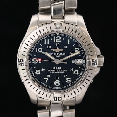 Breitling Colt Quartz SQ Stainless Steel Wristwatch