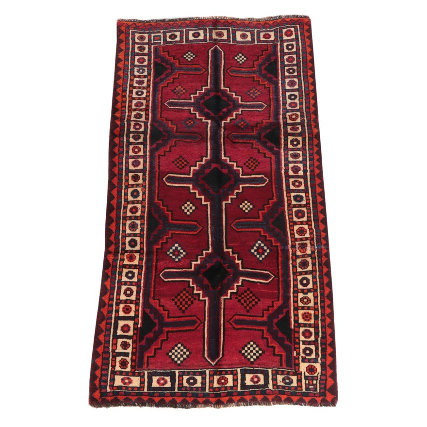 3'10 x 7'5 Hand-Knotted Persian Shiraz Wool Rug