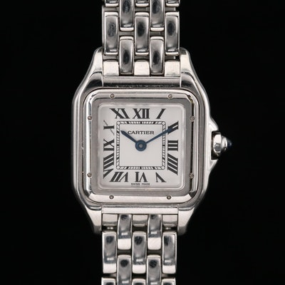 Cartier Panthere Stainless Steel Quartz Wristwatch