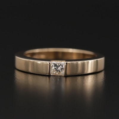 14K Yellow Gold 0.17 CT Diamond Band