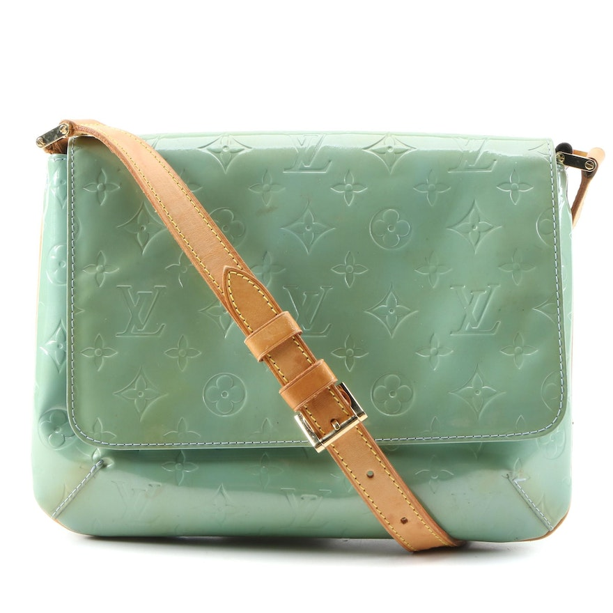 Louis Vuitton Thompson Street Bag in Monogram Vernis and Leather