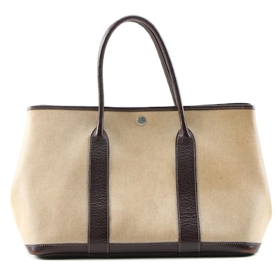 Hermès Garden Party 36 Tote Bag in Coated Canvas and Leather