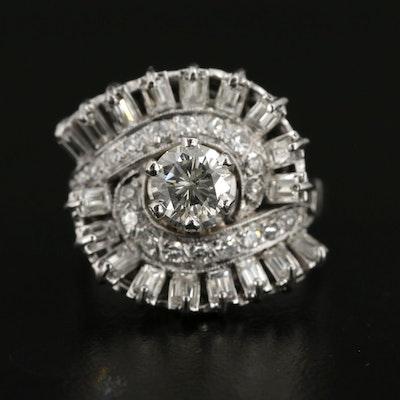 Vintage 14K White Gold 1.74 CTW Diamond Ring