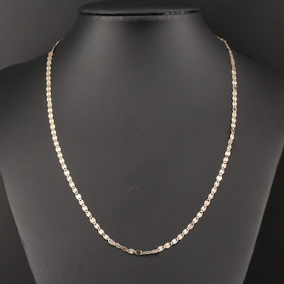 14K Yellow, White and Rose Gold Fancy Link Necklace