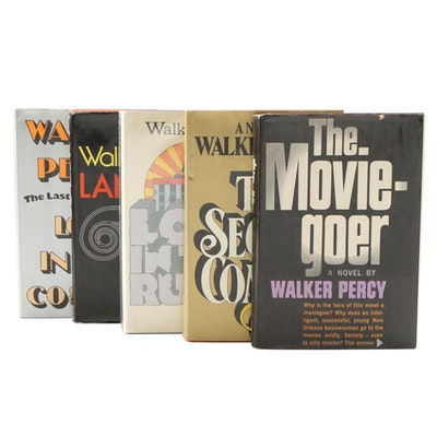 "Walker Percy Book Collection including Signed ""The Moviegoer"""