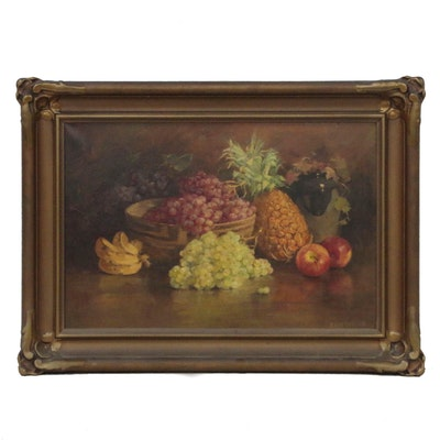 Edith White Still Life Oil Painting, Early 20th Century