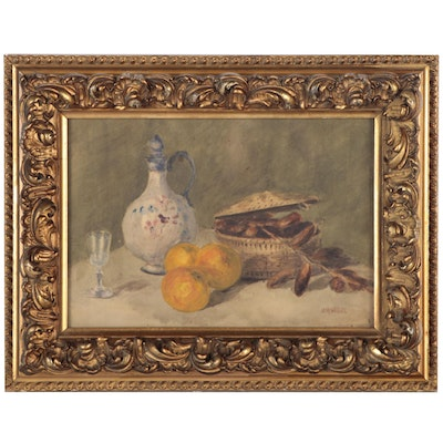 Herman Wessel Watercolor Still Life Painting, Early 20th Century