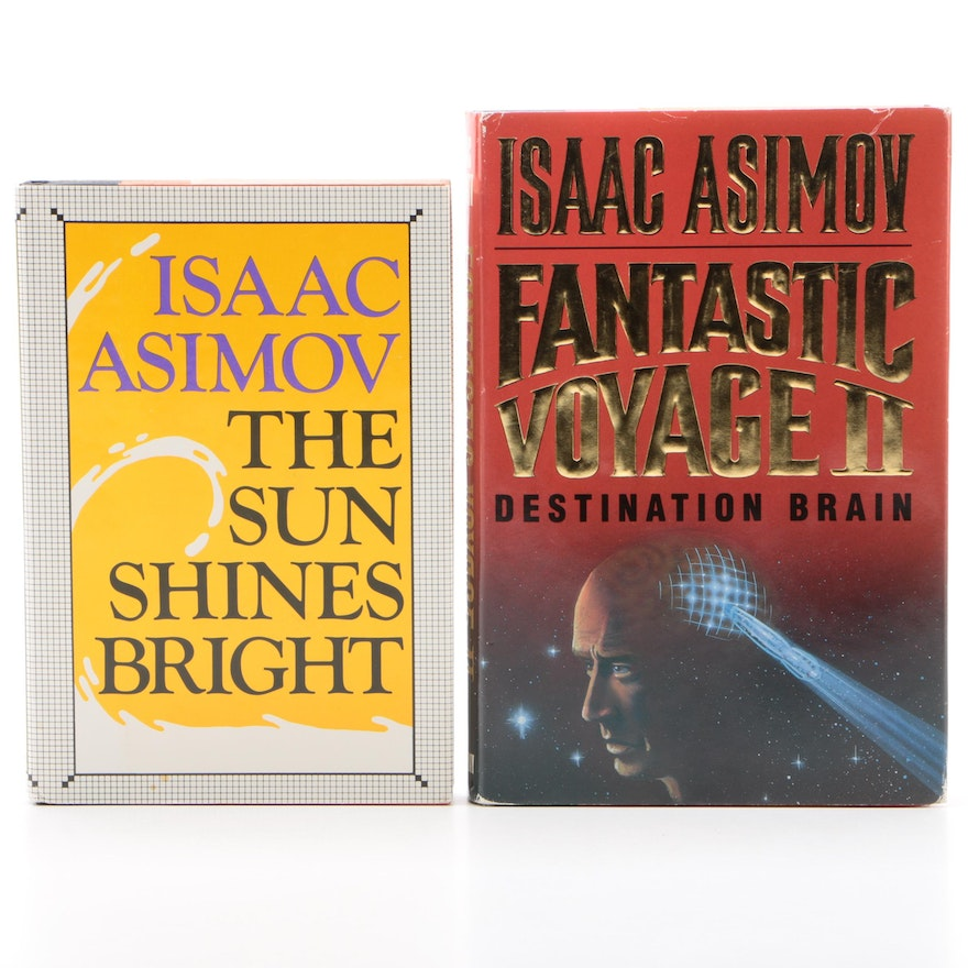 """First Edition Isaac Asimov Novels Including """"The Sun Shines Bright"""""""