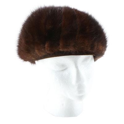 Mink Fur Dome Hat, Vintage