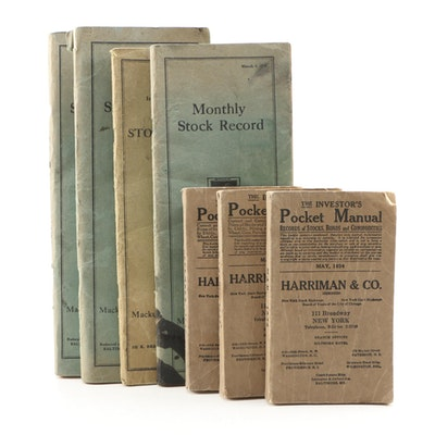 "1933 ""The Investor's Pocket Manual"" with other Stock Exchange Manuals & Records"