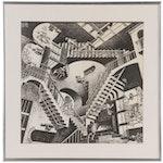 """Offset Lithograph after M.C. Escher """"Relativity"""""""