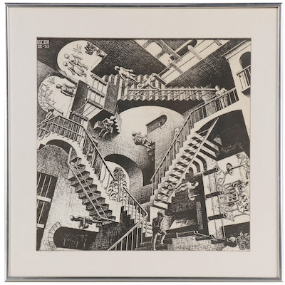 "Offset Lithograph after M.C. Escher ""Relativity"""