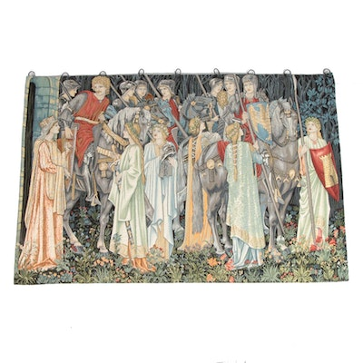 """Corona Decor Co. Machine-Woven Tapestry after """"Quest for the Holy Grail"""""""