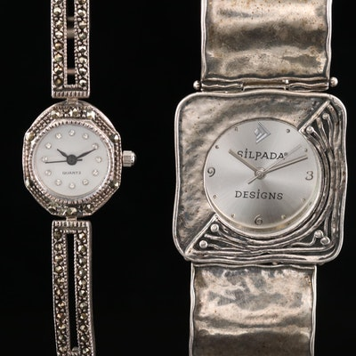 Sterling Silver Quartz Wristwatches Including Silpada