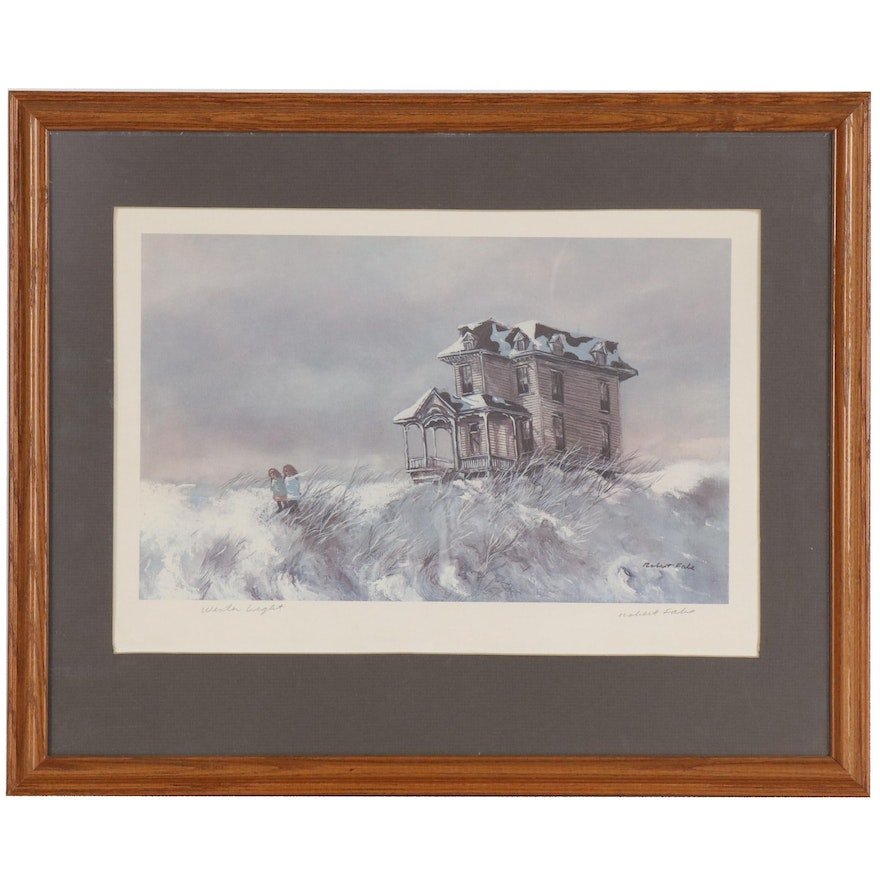 "Robert Fabe Offset Lithograph ""Winter Light"""