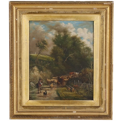 Henry B. Northcote Pastoral Oil Painting