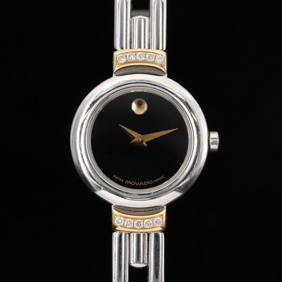 Movado Harmony Diamond Two Tone Wristwatch