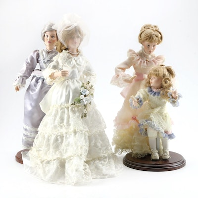 """Danbury Mint Dolls Including """"Wedding Day Final Touches"""" and More"""