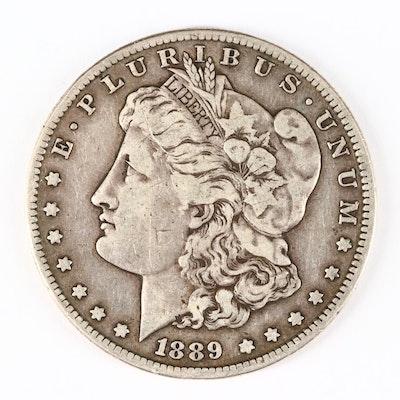 Low Mintage 1889-S Silver Morgan Dollar