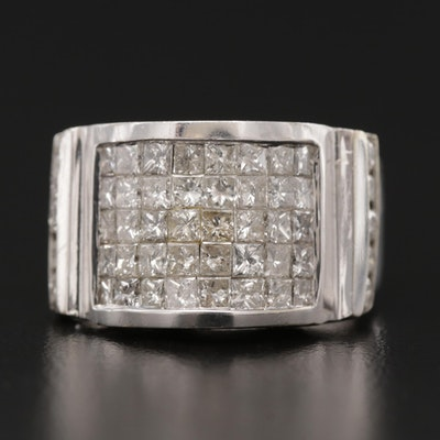 14K White Gold 3.23 CTW Diamond Ring