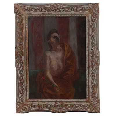 "Franklin Watkins Oil Painting ""The Model"", Early to Mid 20th Century"