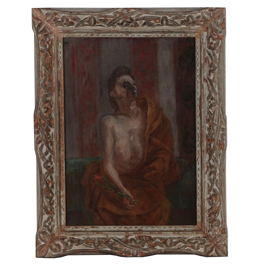 """Franklin Watkins Oil Painting """"The Model"""", Early to Mid 20th Century"""