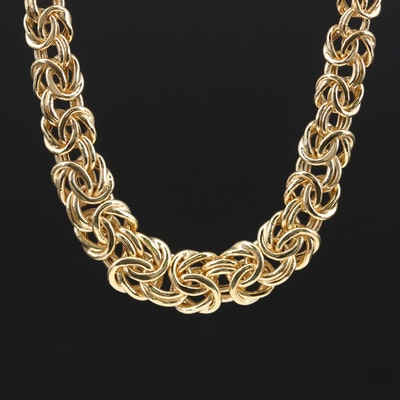 14K Yellow Gold Byzantine Chain Necklace