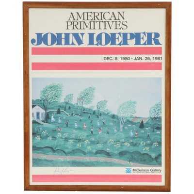 "John Loeper Exhibition Poster ""American Primitives"", 1981"