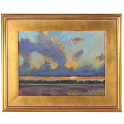 "Jay Wilford Landscape Oil Painting ""Gulf Sunset"""