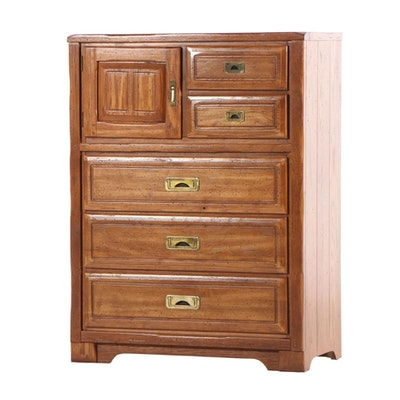 Young-Hinkle Oak Tall Chest, Mid 20th Century