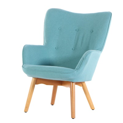 OFM Furniture Upholstered Winged Back Lounge Chair