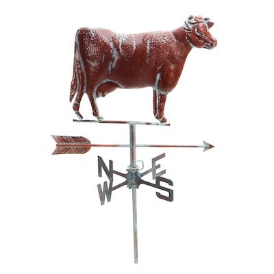 Copper Cow Weather Vane