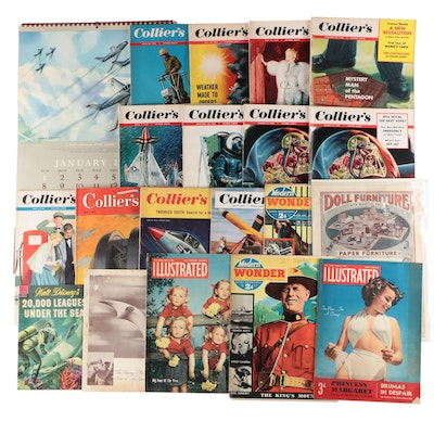 Ephemera, a 1950s Calendar with Magazines