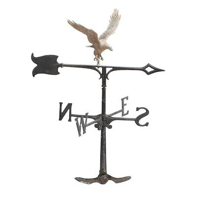 Cast Metal Bald Eagle Weather Vane