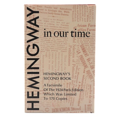"""Limited Edition Facsimile """"In Our Time"""" by Ernest Hemingway, 1977"""